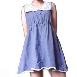 Denim Blue Lace Dress
