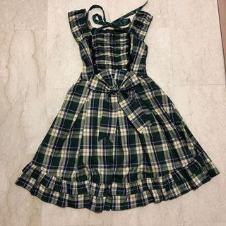Green checkered lolita dress