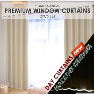 ★ Blockout Curtains / Blackout Curtains / Day Curtains ★ 2 Pcs