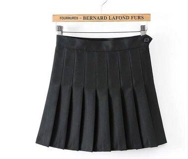 全新✨高腰修身百摺裙
