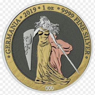 德國五馬克六金屬銀幣,限量銀幣,銀幣,收藏錢幣,錢幣,紀念幣,幣~德國五馬克六金屬銀幣(全球只有五百枚,鍍黃金,玫瑰金,鈀,釕與白銠,加上銀,總共六種貴金屬)
