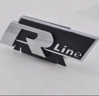 Front grille Rline emblem