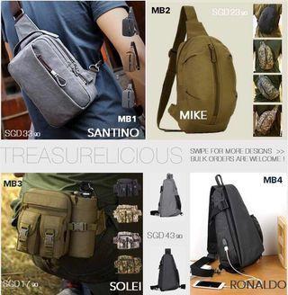 Bags/ Clutch/ Cross Shoulder/ Hand Carry/ Passport Holder for MEN