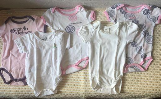Take All Onesies (5 pcs) 3-6 months on label