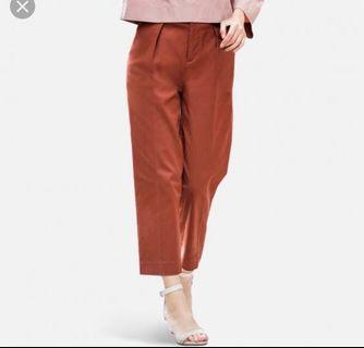 Uniqlo Cotton Tapered Ankle Length Pants