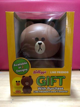 Kellogg's Line Friends Brown Cereal Container