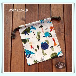 ☆ Handmade Japan Fabric drawstring bag ☆