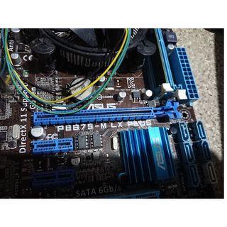 intel i5 3470 + ASUS P8B75-M LX PLUS 插電插硬碟就可以用