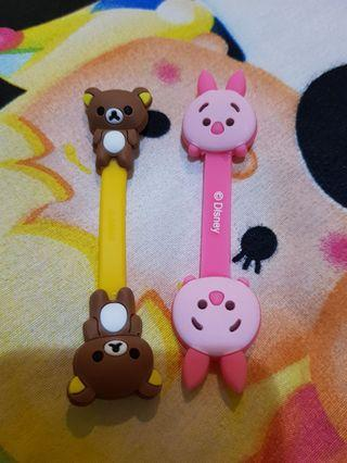 Cord Holder Rilakkuma and Pigglet