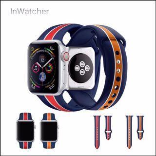 2色 直條紋 Sport Band 運動錶帶 Apple Watch series 1 - 4/LTE Vertical stripe Band