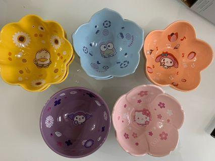 7-11 x Sanrio(全新)陶瓷碗 5款共7隻