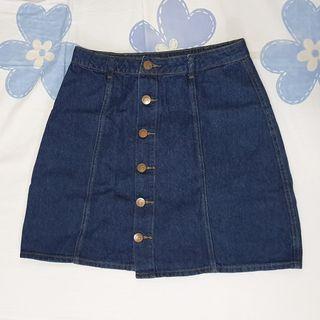 ✨ Cotton On Denim Button Down Skirt