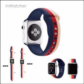 2色 直條紋彩印 Sport Band 運動錶帶 Apple Watch series 1 - 4/LTE Vertical Colour stripe Band