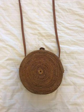 🚚 Bali blogger style wicker round handbag