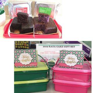 Tupperware Pink set Raya cake