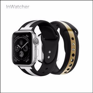 2色 T字直條紋 Sport Band 運動錶帶 Apple Watch series 1 - 4/LTE Vertical T-stripe Band