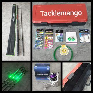 HARI RAYA PROMO 9FT FISHING COMBO WITH FREE ACCESSORIES IN BOX SINGLE BUY $82 BUDDY BUY $158