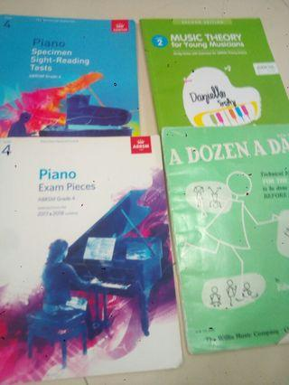 🚚 Grade 4 abrsm piano book and grade 2music theory and a dozen a day