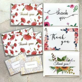INSTOCKS Thank You Floral Greeting Cards