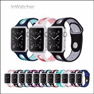 雙色透氣開孔雙扣 Sport Band 運動錶帶 Apple Watch series 1 - 4/LTE Dual Colour Breathing Band