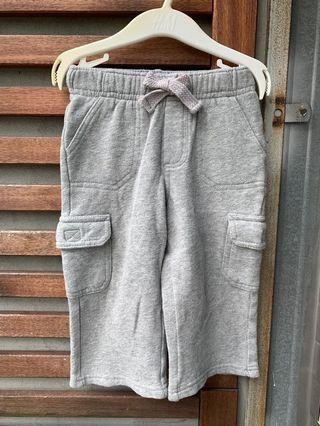 OLD NAVY 灰色薄刷毛棉褲18~24m