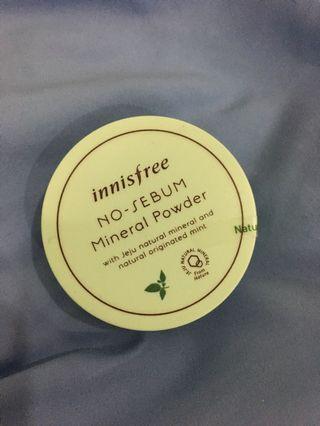 No-sebum mineral Powder