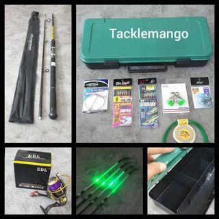 HARI RAYA PROMO 8FT FISHING COMBO WITH FREE ACCESSORIES SINGLE BUY $80 BUDDY BUY $155