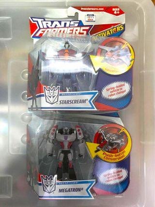 Hasbro Transformers Animated Activators Starscream & Megatron set of 2