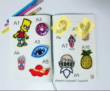 Instocks!!! Iron-On Patch Embroidery Clothes Badge