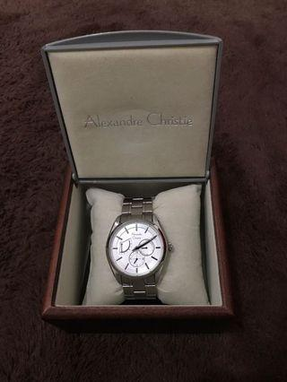 Alexandre Christie AC 8527 MS BSSSL Men White Dial Stainless Steel