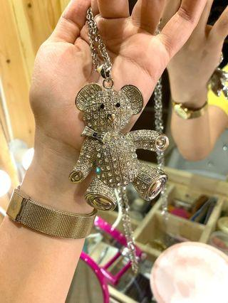 Kalung bear diamond