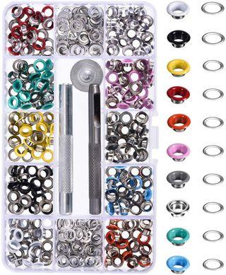 (A127) Bememo 3.6 out of 5 stars  50 Reviews Bememo 300 Pieces Grommets Kit Metal Eyelets Shoes Clothes Crafts, 10 Colors (3/16 Inch)