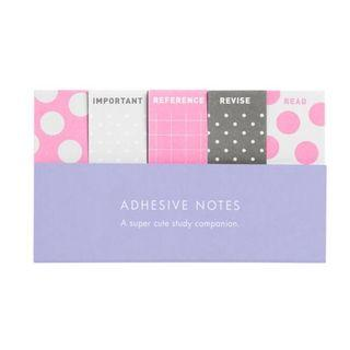 BNWT Kikki K adhesive post it notes - polka dots