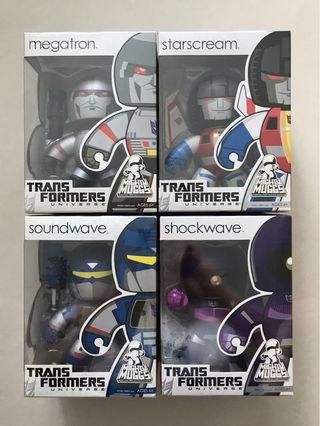 Hasbro Transformers Mighty Muggs G1 Decepticons set of 4
