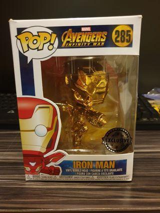 🚚 Exclusive Gold Chrome Iron Man Funko POP!