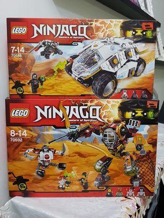 🚚 Lego Ninjago Rebooted 70588 + 70592 MISB