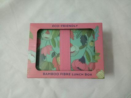 Kotak makan bamboo fibre lunch box food container