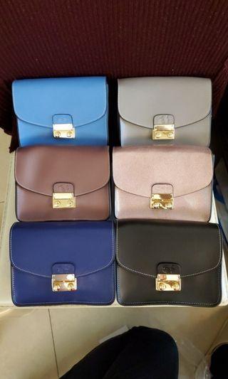 brand new elegant women long chain leather handbag