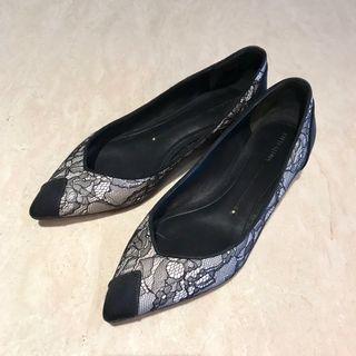 🚚 Stella Luna 黑白蕾絲鞋 37.5