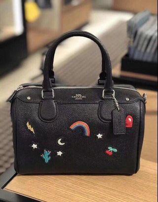 Authentic coach mini bennet satchel