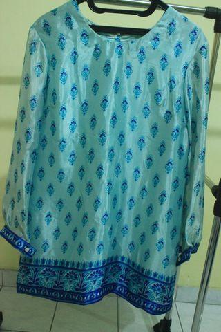 Baju batik atasan dan rok untuk lebaran
