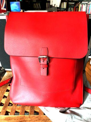 Calvin Kelin Platinum leather Bag 全新真皮袋 手挽包 背包
