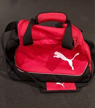 red puma duffel bag