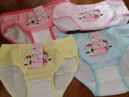 Size L 4 pieces hello kitty undies girls