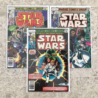 🚚 Star Wars #1, #2 and #3 in very fine conditions. *Reprints in year 1977.