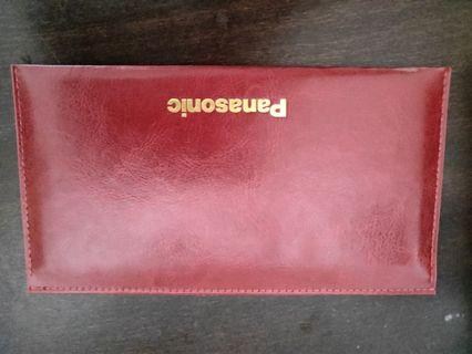 Panasonic red packets (leather holder)