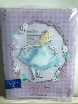 [日本正品💯] Alice 愛麗絲 揭頁file notebook