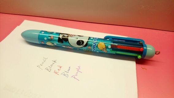 Panchi & Nana 4色原子筆+鉛芯筆 4-color ball pen+pencil
