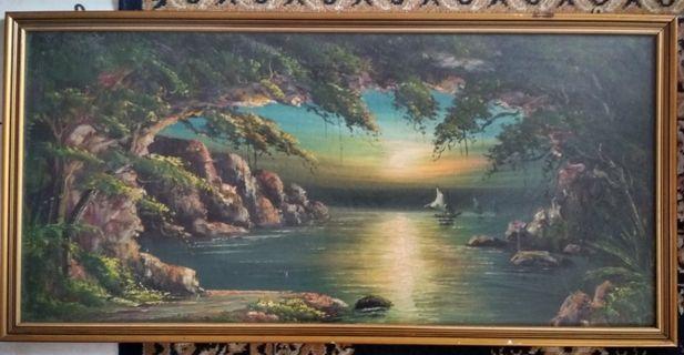 Landscape Acrylic Painting on canvas Seascape