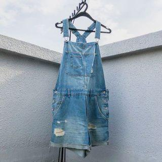 🚚 denim overalls
